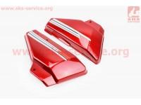 Пластик - крышка бардачка левая, правая к-кт (Красный)