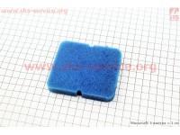 Фильтр-элемент воздушный  с пропиткой (поролон), синий [Китай]