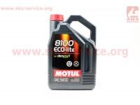 4T-8100 ECO-lite 5W-30 масло для бензиновых двигателей, синтетическое, 4л [MOTUL]