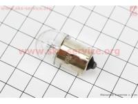 Лампа поворота (белая с цоколем) 12V/10W G18 [Китай]
