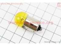 Лампа поворота (желтая с цоколем) 12V/10W G18