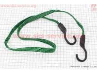 РЕЗИНКА БАГАЖНИКА плоская с крючками пластик. 1,0метр [Китай]