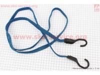 РЕЗИНКА БАГАЖНИКА плоская с крючками пластик. 2,0метр [Китай]