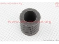 """Фильтр воздушный нулевой - элемент для 35мм """"цилиндр"""" (паралоновый), ЧЕРНЫЙ [SALO]"""