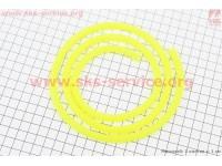 Шланг топливный силикон САЛАТОВЫЙ (внешн.8мм, внутр. 5мм) - 1метр