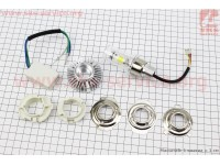 Лампа фары диодная LED-2 SUPER универсальная (к-кт разных креплений)