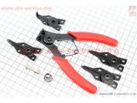 Съемник для стопорных колец универсальный (4 насадки)