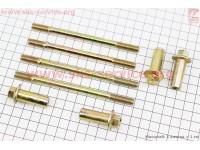 Шпилька цилиндра d8мм, к-кт 4шт (2шт-122м, 2шт-130мм) + гайки