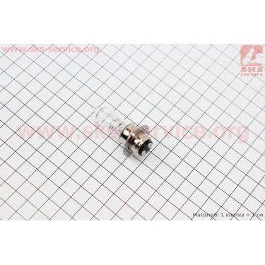 Лампа фары P15D-25-3 12V 35/35W (короткая) [CYT]