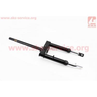Амортизатор передний (перья), к-кт 2шт + траверс руля взборе (передняя вилка) Suzuki LETS [Китай]