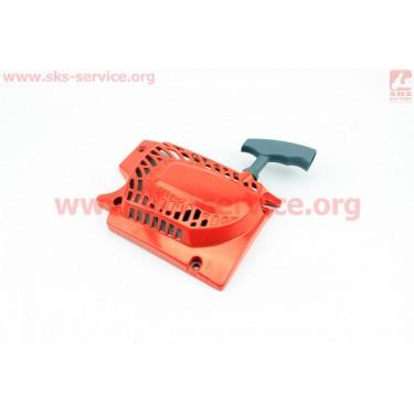 Стартер в сборе, 4зацепа, 4500/5200, (корпус, шкив - метал) Тип №1 [Китай]