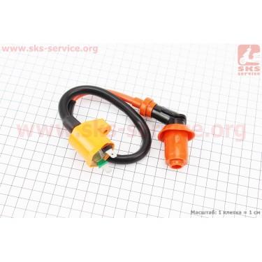 Катушка зажигания с насвечником (оранжевая) ТЮНИНГ [Китай]