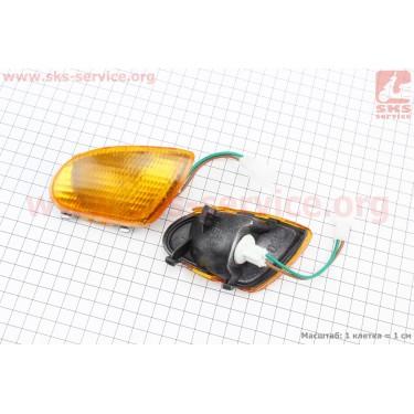 Yamaha JOG APRIO повороты передние в сборе к-кт 2шт (желтые) [Китай]