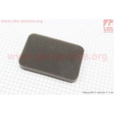 Фильтр воздушный - элемент (поролон 145х100х20мм) для генератора 4-6кВт [Китай]