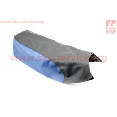 Чехол сиденья (эластичный, прочный материал) черный/синий [Украина]