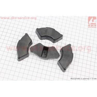 Демпферная резинка заднего литого колеса (к-кт 4шт)  [Китай]