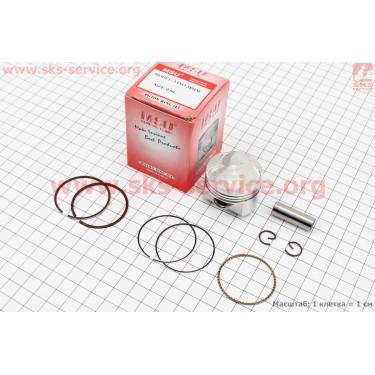 Поршень, кольца, палец к-кт Yamaha SA36J +0,50 (палец 10мм) [MSU]