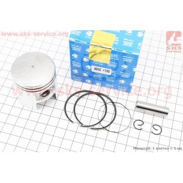 Поршень, кольца, палец к-кт Suzuki AD50/LETS 41мм +1,00 (палец 10мм) [BAJAJ]