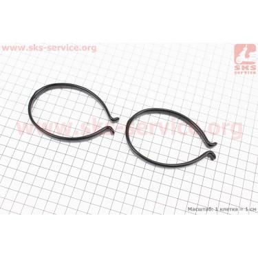Защита штанов от попадания в цепь, пластмассовая, к-кт 2 шт, черная KL-9780 [Китай]