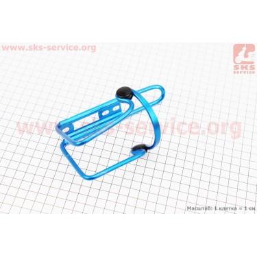 Флягодержатель алюминиевый с пластмассовыми вставками, крепл. на раму, синий [Китай]