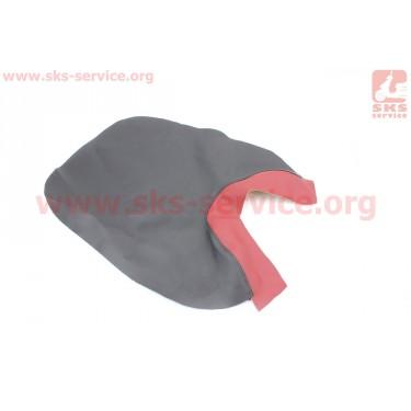 Чехол сидения переднего (эластичный, прочный материал) черный/красный [Украина]