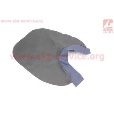 Чехол сидения переднего (эластичный, прочный материал) черный/синий [Украина]