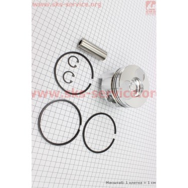"""Поршень, кольца, палец к-кт 186F 86мм +0,25 (форкамера в форме """"Усечённого конуса"""") [Китай]"""
