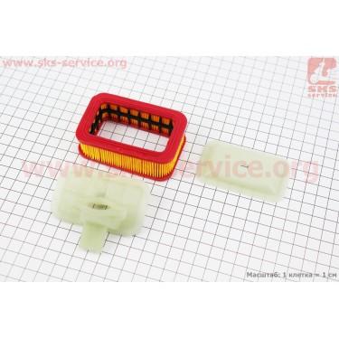 Фильтр воздушный 4500/5200 - элемент (прямоугольный, бумажный 84x55x28мм) в сборе [Китай]