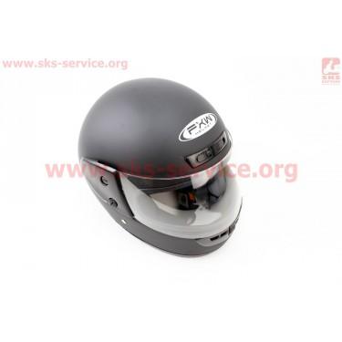 Шлем закрытый HF-101 M- ЧЕРНЫЙ матовый [FXW]