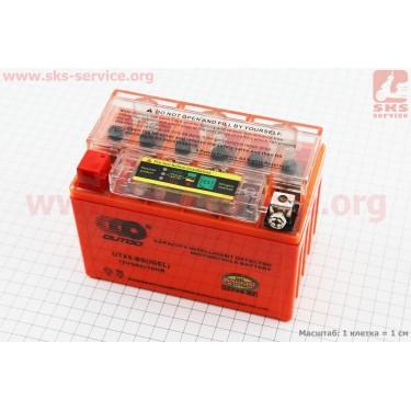 Аккумулятор 9Аh UTX9-BS гелевый (L150*W87*H107mm), 2020, с ИНДИКАТОРОМ [OUTDO]