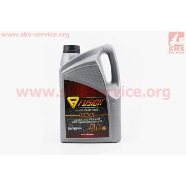 10W-40 Turbo - масло полусинтетическое, для бензиновых и дизельных двигателей, 5л (качественное, производство ГЕРМАНИЯ!!!) [FUSION]