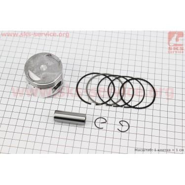 Поршень, кольца, палец к-кт 125cc 52,4мм WH125 Keeway +0,25 (палец 15мм)  [Китай]