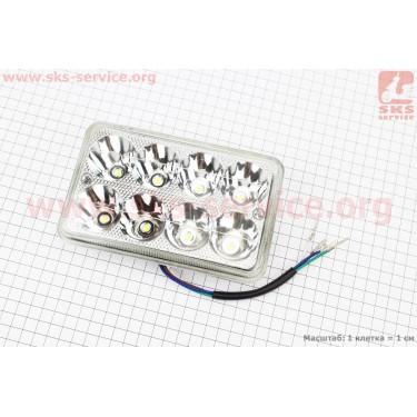 Фары квадратной передняя часть 8-LED, 165*105мм, TUNING [Китай]