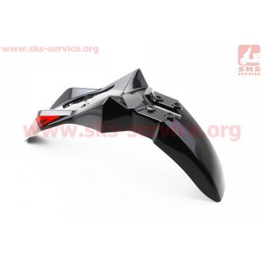 Loncin- LX250GY-3 пластик - крыло переднее, ЧЕРНЫЙ [Китай]