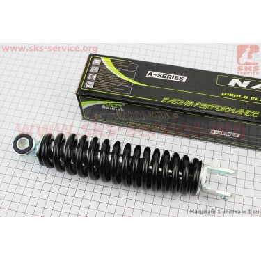 Амортизатор задний GY6/Yamaha - 235мм*d50мм (втулка 10мм / вилка 8мм), черный [NAIDITE]