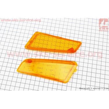 """Suzuki ADDRESS V """"стекло""""- поворотов передних к-кт 2шт, желтые [Китай]"""