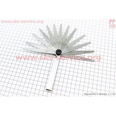 Щупы для регулировки зазоров клапанов  0,05-1,00mm, к-кт [Украина]