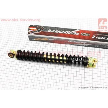 Амортизатор задний GY6/Honda - 305мм*d41мм (втулка 10мм / вилка 8мм), черный [Viper]