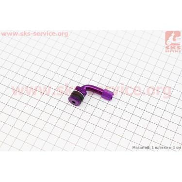 Ниппель дисковый многоразовый кривой, ФИОЛЕТОВЫЙ [Китай]