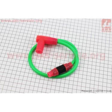 ПРОВОД TUNING к катушкам зажигания (зеленый), 43см + колпачок свечной  [SplitFire]