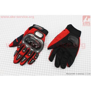 Перчатки L-красные [PRO BIKER]