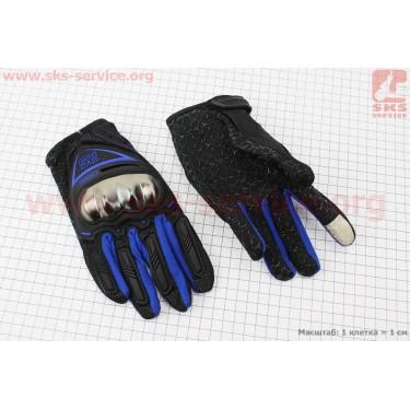 Перчатки L-черный/синий (сенсорный палец) [AXIO]
