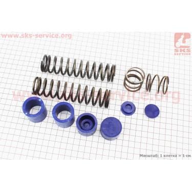 Ремонтный комплект передней вилки Yamaha VINO - втулки 4шт + пружины 4шт+ заглушки 2шт [SALO]