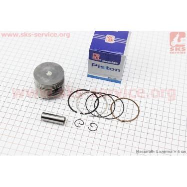 Поршень, кольца, палец к-кт Honda CH100 50мм +0,50 синяя коробка (палец 13мм) [SEE]