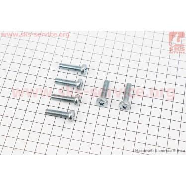 Болт крепления крышка вариатора Yamaha  JOG SA-36J/39J - к-кт 6шт (под отвертку) [SALO]