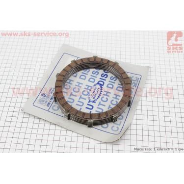 Диски сцепления фрикционный 4мм к-кт 5шт 12V [Taiwan]