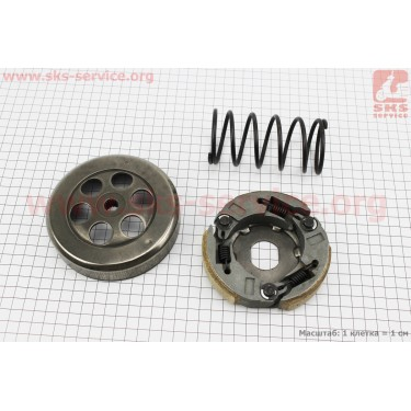 Сцепление заднего вариатора + колокол + ружина торкдрайвера к-кт Yamaha 4JP/AXIS 100 [Китай]
