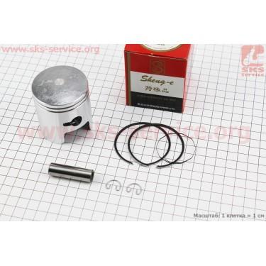 Поршень, кольца, палец к-кт Suzuki AD100/110 52,5мм +0,75 (палец 12мм), красная коробка [SEE]
