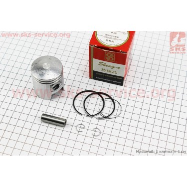 Поршень, кольца, палец к-кт Suzuki СP50 41мм +0,25 (палец 10мм), красная коробка [SEE]