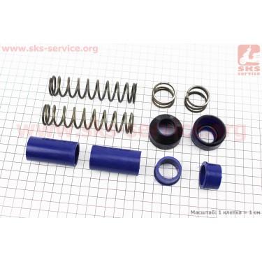 Ремонтный комплект передней вилки Yamaha JOG - втулки 4шт под шток 22,3мм + пружины 4шт + пыльники 2шт [SALO]